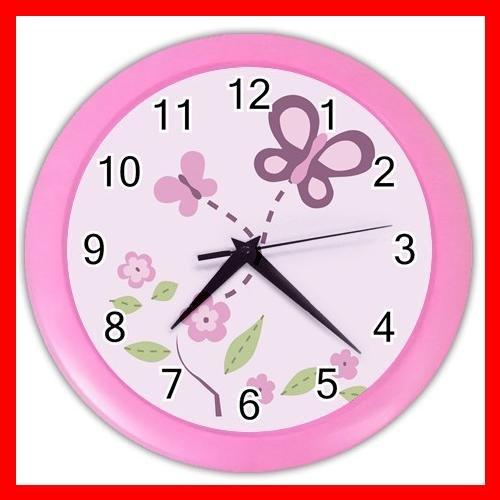 SUGAR PLUM NURSERY GIRLS Wall Clock-Pink 014