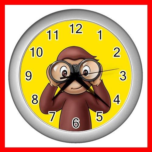 Curious George Monkey Kids Wall Clock-Sliver 015