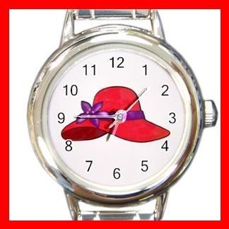 RED HAT SOCIETY LADIES Fun Italian Charm Wrist Watch 619