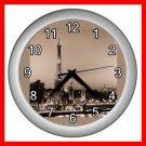EIFFEL TOWER Paris France Wall Clock-Silver 017