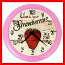 STRAWBERRY TASTY FRUIT Wall Clock-Pink 020