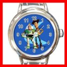 TOY STORY WOODY & BUZZ KIDS Italian Charm Wrist Watch 624