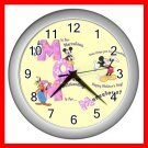 Mickey Mouse Friends MOM Mother's Day Kids Decor Wall Clock-Silver 029