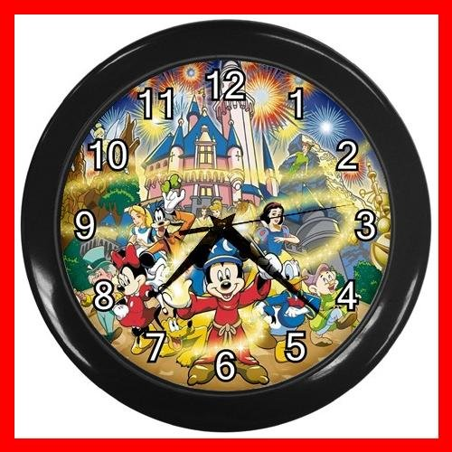 Mickey Mouse Friends Family Kids Decor Wall Clock-Black 030