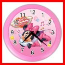 Minnie Mouse Girls Decor Wall Clock-Pink 032