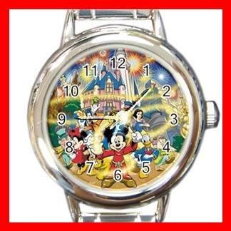Mickey Mouse Friends Family Kids Italian Charm Wrist Watch 630