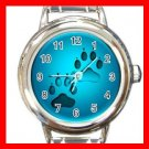 Dog Paw Pet Animals Italian Charm Wrist Watch 635