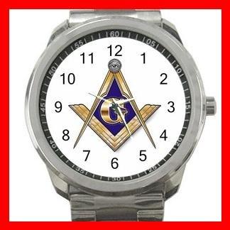 FREEMASONRY MASON Silvertone Sports Metal Watch 004
