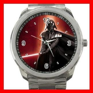 DARTH VADER STAR WARS Silvertone Sports Metal Watch 006