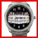 Three Olives VODKA WINE Silvertone Sports Metal Watch 008
