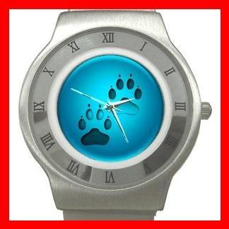 Dog Paw Pet Animals Stainless Steel Wrist Watch Unisex 194