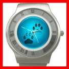 Dog Paw Pet Animals Stainless Steel Wrist Watch Unisex 194