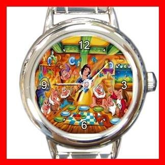 Snow White & Seven Dwarf Kids Italian Charm Wrist Watch 636