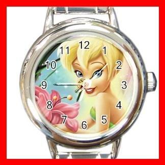 Tinkerbell Disney Kids Round Italian Charm Wrist Watch 638