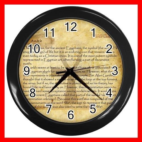 Egypt Pharaoh Ankh Life Eternal Decor Wall Clock-Black 037