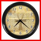 Egypt Pharaoh Ankh Life Eternal Decor Wall Clock-Black 037