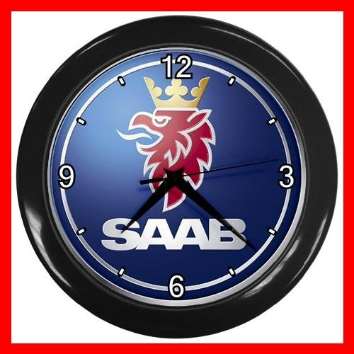 SAAB Collectable Decor Wall Clock-Black 038