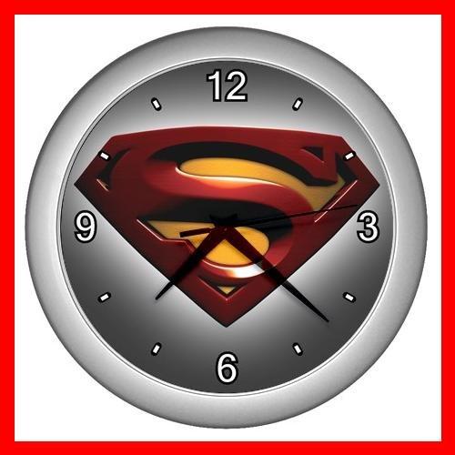 Superman Collectable Decor Wall Clock-Silver 039