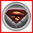 Superman Collectable Decor Wall Clock-Silver 039
