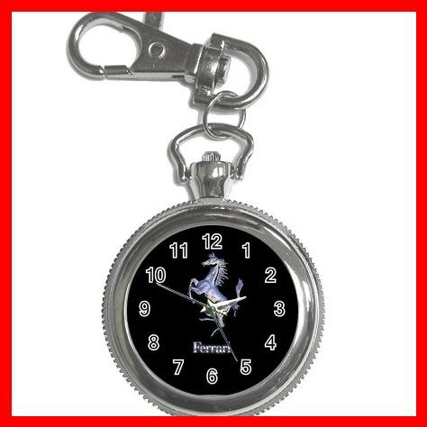 Ferrari Collectable Silvertone Key Chain Watch 008