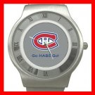 Hockey Montreal Canadians Canadiens HABS NHL Stainless Steel Wrist Watch Unisex 200