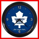 Toronto Maple Leafs Collectable Decor Wall Clock-Black 042