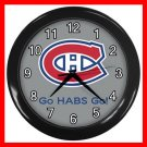 Hockey Montreal Canadians Canadiens HABS NHL Decor Wall Clock-Silver 044