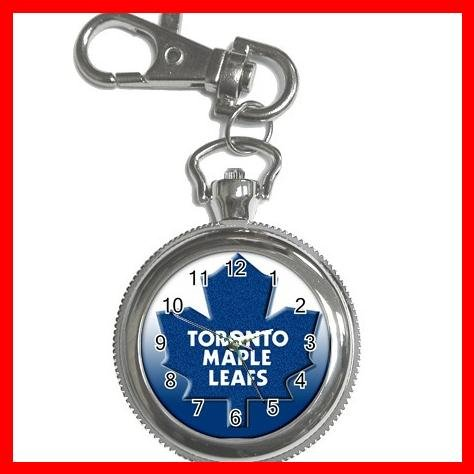 Toronto MAPLE LEAFS Silvertone Key Chain Watch 009