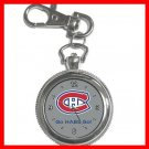 Hockey Montreal Canadians Canadiens HABS NHL Silvertone Key Chain Watch 012