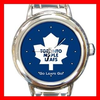 Toronto Maple Leafs Round Italian Charm Wrist Watch 639