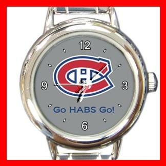 Hockey Montreal Canadians Canadiens HABS NHL Round Italian Charm Wrist Watch 641