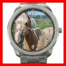 Palomino Quarter Horse Animals Silvertone Sports Metal Watch 018