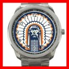 Illinois Fighting Illini University Silvertone Sports Metal Watch 019