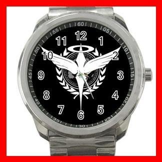 CELESTIAL BEING GUNDAM 00 Silvertone Sports Metal Watch 022
