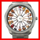 Guitar Circle Music Fun Silvertone Sports Metal Watch 024