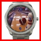Bowling Game Fun Silvertone Sports Metal Watch 027