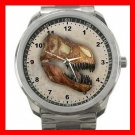 Tyrannosaurus Dinosaur Fossil Silvertone Sports Metal Watch 030