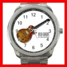1959 GIBSON LES PAUL GUITAR MUSIC Silvertone Sports Metal Watch 031