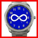 Blue Metis Flag Silvertone Silvertone Sports Metal Watch 032