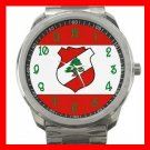 LEBANESE FLAG Lebanon Green Cedar Silvertone Sports Metal Watch 046