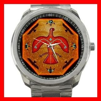 Thunderbird Myth Silvertone Sports Metal Watch 050