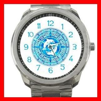 Celtic Dolphins Myth Silvertone Sports Metal Watch 053