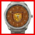 Copper Dragon Shield Silvertone Sports Metal Watch 054