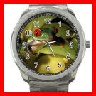 Tree Frog from Costa Rica Silvertone Sports Metal Watch 073
