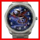 Whitby Wyrm Dragonlike Animals Silvertone Sports Metal Watch 075