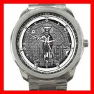 Knight of East and West Silvertone Sports Metal Watch 079