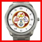 Masonic York Rite Freemasonry Silvertone Sports Metal Watch 081