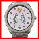 Jazzy Kokopelli Kokope Silvertone Sports Metal Watch 090