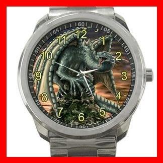 Raptor Dragon Fantasy Silvertone Sports Metal Watch 092