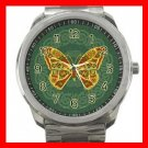 Celtic Butterfly Fly Silvertone Sports Metal Watch 098